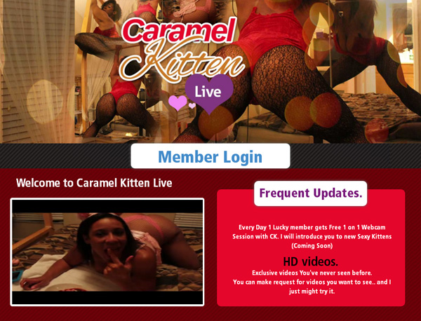 Sign Up To Caramel Kitten Live